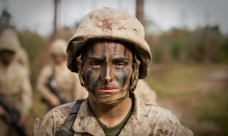 Maria Daume is one of the first women to graduate from Marine Corps basic training and head to infantry training. (U.S. Marine Corps/Staff Sergeant Greg Thomas)