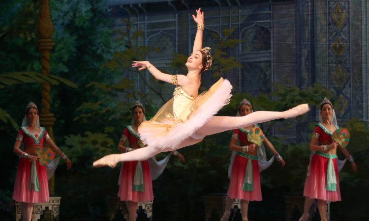 "Joy Womack performs in ""La Bayadere (The Temple Dancer)"" with the Bolshoi Ballet. (© Getty Images)"