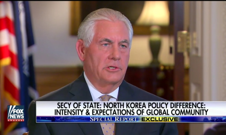 Secretary Tillerson in Interview With Bret Baier of Fox News