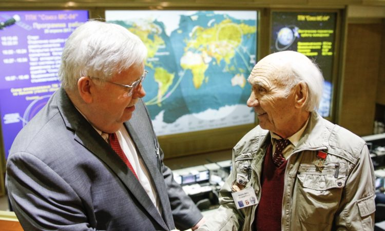 Ambassador Tefft congratulates renowned Soviet test pilot Georgi Mosolov
