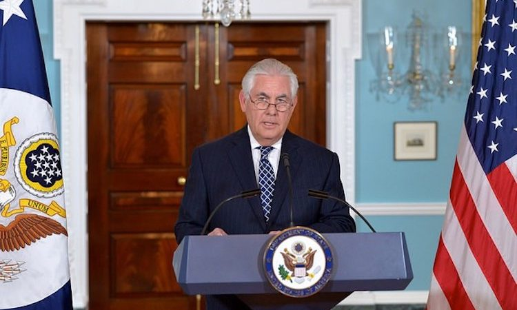Secretary of State Rex Tillerson during Press Availability