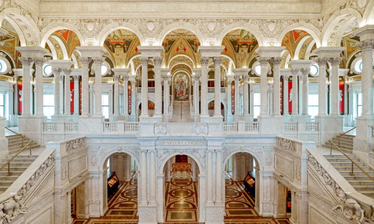 The Great Hall of the Thomas Jefferson Building of the Library of Congress (© AP Images)