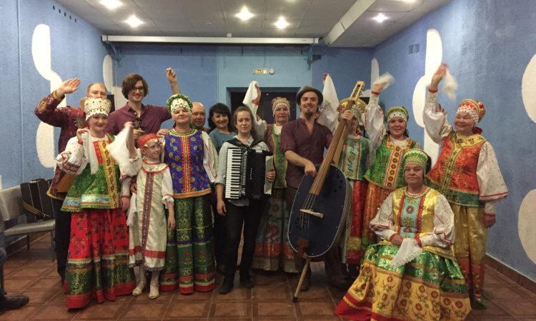 Three For Silver with a Folk Choir in Iliynsky, Perm Region / Группа Three For Silver с хоровым коллективом поселка Ильинский, Пермский край