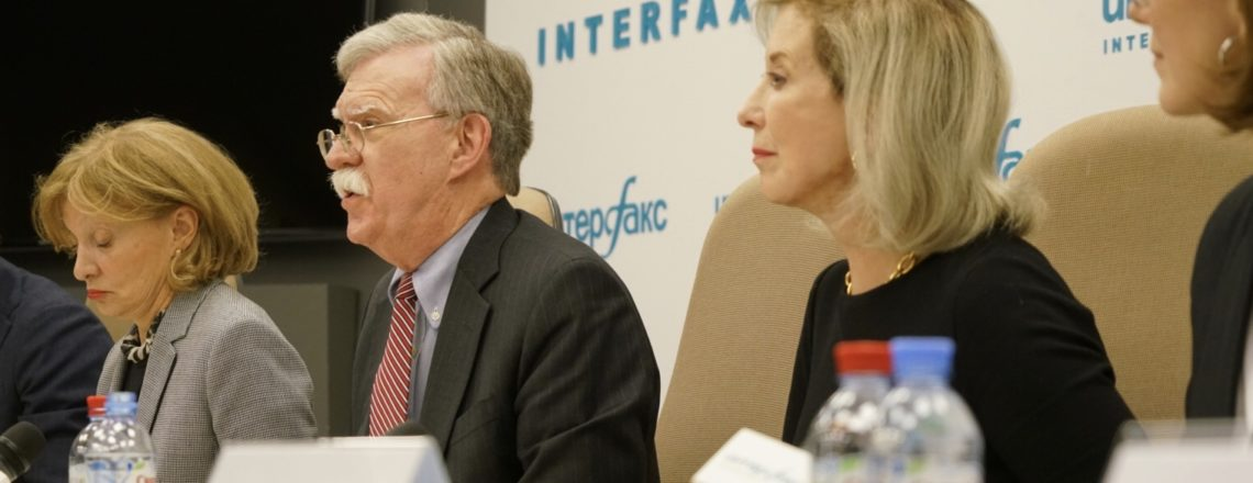 APNSA John Bolton Press Conference at Interfax News Agency Moscow, Russia