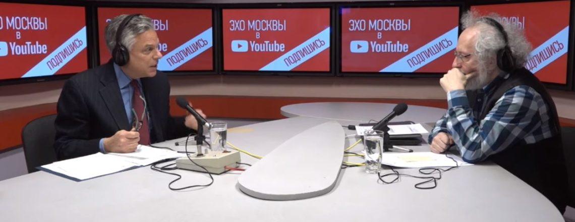 Посол США Джон Хантсман в программе Алексея Венедиктова на радио «Эхо Москвы»