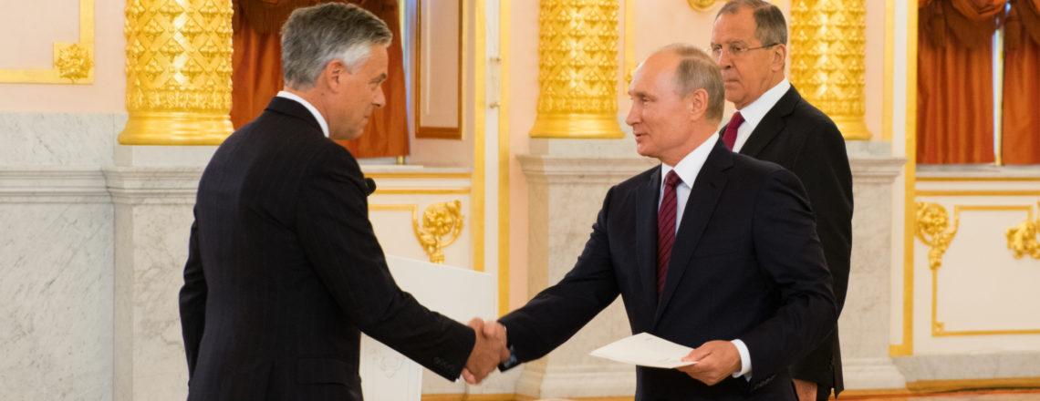 О вручении верительных грамот посла США в РФ Джона Хантсмана