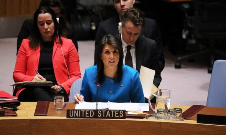 Ambassador Haley Delivers Remarks at a UN Security Council Meeting